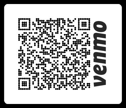 QR Code for VAVP's Venmo account @VirginiaAnti-Violence-Project